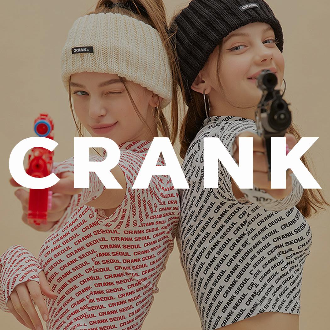 """CRANK 韓国のガールズクラッシュを代表する""""CRANK"""" トレンド感度の高い、エッジの効いた独自のデザインが魅力 クールなガールズストリートスタイルのクロップトップスやミニスカートなどトレンドアイテムが揃う"""